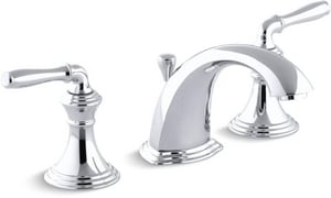 KOHLER Devonshire® Two Handle Widespread Bathroom Sink Faucet in Polished Chrome K394-4-CP