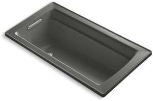 Kohler Archer® 60 x 32 in. Drop-In Bathtub with Reversible Drain in Thunder Grey K1123-58