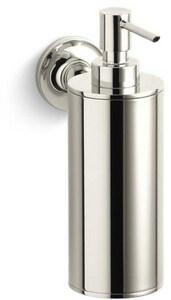 Kohler Purist® Wall Mount Soap/Lotion Dispenser in Vibrant Polished Nickel K14380-SN