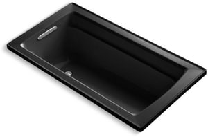 Kohler Archer® 60 x 32 in. Drop-In Bathtub with Reversible Drain in Black Black K1123-7