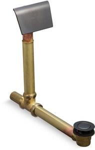 Kohler ClearFlo™ 19-1/8 in. Adjustable Bath Drain in Brushed Black K7169-AF-BKB