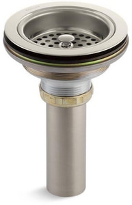 KOHLER Duostrainer® Brass Basket Strainer with Tailpiece in Vibrant® Polished Nickel K8801-SN