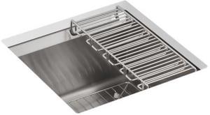 KOHLER 8 Degree™ 18 x 18 in. Undermount Stainless Steel Bar Sink K3671-NA