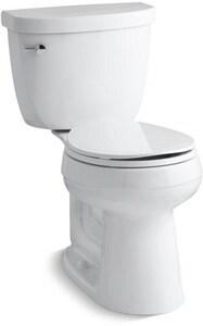 Kohler Cimarron® 1.28 gpf Round Toilet in White with Left-Hand Trip Lever K3887-0