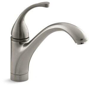 Kohler Forte Single Handle Kitchen Faucet In Vibrant Brushed Nickel