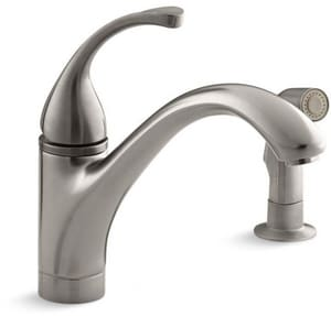 Kohler Forte® Single Handle Kitchen Faucet in Vibrant Stainless K10416-VS