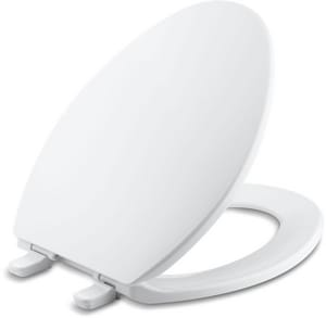 KOHLER Brevia™ Quick-Release™ Elongated Closed Front Toilet Seat in White K4774