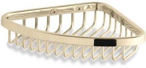 KOHLER 4-3/4 in. Small Corner Shower Basket in Vibrant French Gold K1898-AF