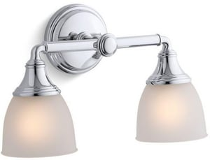 KOHLER Devonshire® 2 Light 100W Up or Down Facing Wall Sconce Polished Chrome K10571-CP