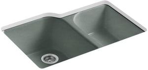 Kohler Executive Chef™ 4-Hole 2-Bowl Kitchen Sink in Basalt K5931-4U