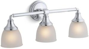 KOHLER Devonshire® 3 Light 100W Up or Down Facing Wall Sconce Polished Chrome K10572-CP