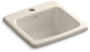 KOHLER Gimlet™ 1 Hole Single Bowl Top Mount Bar Sink in Almond K6015-1-47
