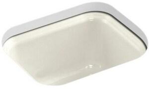 KOHLER Northland™ 15 x 12-3/8 in. Undermount Cast Iron Bar Sink in Biscuit K6589-U-96
