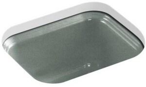 KOHLER Northland™ No-Hole Bar Sink with Sink Strainer in Basalt K6589-U-FT