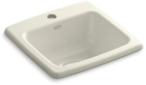 KOHLER Gimlet™ 15-1/4 x 15-1/4 in. 1 Hole Drop-in Acrylic Bar Sink in Biscuit K6015-1-96