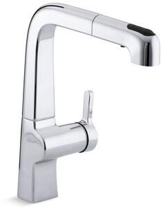 Kohler Evoke® Single Handle Pull Out Kitchen Faucet in Polished Chrome K6331