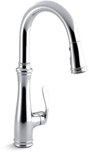 KOHLER Bellera® Single Handle Pull Down Kitchen Faucet with Three-Function Spray, Magnetic Docking and Sweep Spray Technology in Polished Chrome K560-CP