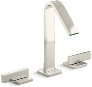 KOHLER Loure® Two Handle Widespread Bathroom Sink Faucet in Vibrant Polished Nickel K14661-4-SN