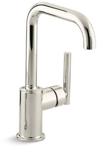 Kohler Purist® Single Handle Kitchen Faucet in Vibrant Polished Nickel K7509-SN