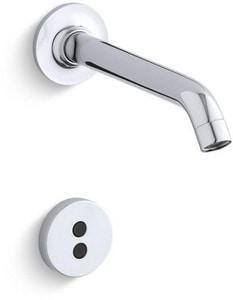 KOHLER Purist® No Handle Sensor Bathroom Sink Faucet in Polished Chrome KT11840-CP