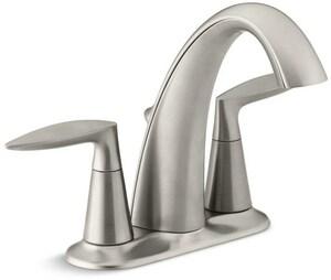 KOHLER Alteo® Two Handle Centerset Bathroom Sink Faucet in Vibrant Brushed Nickel K45100-4-BN