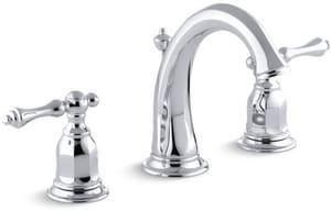 KOHLER Kelston® Two Handle Widespread Bathroom Sink Faucet in Polished Chrome K13491-4-CP
