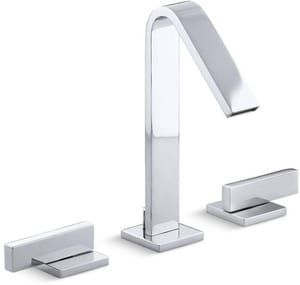 Kohler Loure® Two Handle Widespread Bathroom Sink Faucet in Polished Chrome K14661-4