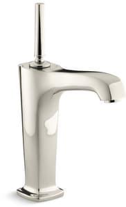 Kohler Margaux® Single Handle Vessel Filler Bathroom Sink Faucet in Vibrant Polished Nickel K16231-4-SN