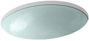 Kohler Whist® 19 x 16-1/8 in. Glass Undermount Bathroom Sink in Dew White K2741-G2-B11