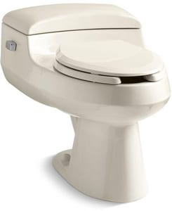 Kohler San Raphael™ 1 gpf Elongated Wall Mount Toilet in Almond with Left-Hand Trip Lever K3597-NF-47