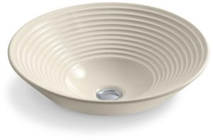 Turnings® Oval Vessel Bathroom Sink in Almond K2191-47