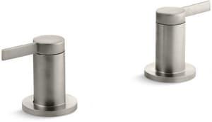 Kohler Stillness® Double Lever Handle Deckmount or Wall Mount Bath Valve Trim in Vibrant Brushed Nickel KT955-4-BN