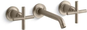 KOHLER Purist® Two Handle Widespread Bathroom Sink Faucet in Vibrant Brushed Bronze KT14413-3-BV