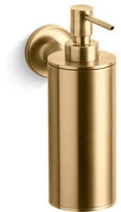 Kohler Purist® Wall Mount Soap and Lotion Dispenser in Vibrant Moderne Brushed Gold K14380-BGD