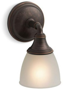 KOHLER Devonshire® 100W 1-Light Wall Sconce in Oil Rubbed Bronze K10570-2BZ