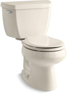 KOHLER Wellworth® 1.28 gpf Round Toilet in Almond with Left-Hand Trip Lever K3577-47