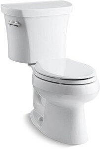 Kohler Wellworth® 1.28 gpf Elongated Toilet in White with 14 in. Rough-In K3948-0