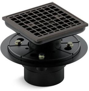 Kohler ClearFlo™ 3 in. Threaded Plastic Oil Rubbed Bronze Shower Drain K9136-2BZ