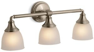 Kohler Devonshire® 3 Light 100W Up or Down Facing Wall Sconce Vibrant Brushed Bronze K10572-BV