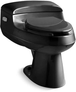 Kohler San Raphael™ 1 gpf Elongated Wall Mount Toilet in Black Black with Left-Hand Trip Lever K3597-NF-7