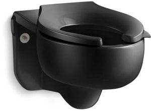Kohler Stratton™ Elongated Toilet Bowl in Black Black K4450-C-7
