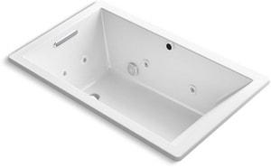 Kohler Underscore® 60 x 36 in. Bathtub with End Drain in White K1849-XH2G-0