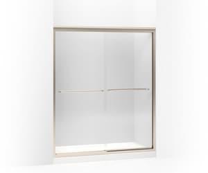 KOHLER Fluence® 70-5/16 x 59-5/8 in. Frameless Sliding Shower Door in Anodized Brushed Bronze K702206-L-ABV