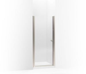 KOHLER Fluence® 65-1/2 x 31-1/2 in. Frameless Pivot Shower Door in Matte Nickel K702402-G54-MX