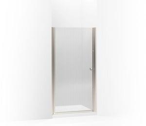 KOHLER Fluence® 65-1/2 x 36-1/2 in. Frameless Shower Door with Falling Line Glass in Matte Nickel K702410-G54-MX