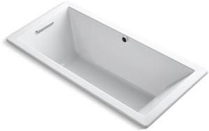 Kohler Underscore® 66 x 32 in. Soaker Drop-In Bathtub in White K1821-W1-0