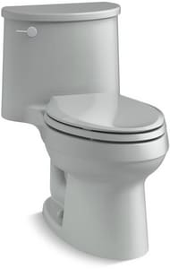 Kohler Adair® 1.28 gpf Elongated Toilet in Ice Grey with Left-Hand Trip Lever K6925-95
