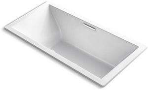 KOHLER Underscore® 72 x 36 in. Soaker Drop-In Bathtub with Center Drain in White K1834-W1-0