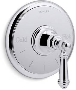 Kohler Artifacts® Thermostatic Valve Trim with Lever Handle in Polished Chrome KT72769-4-CP