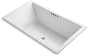 KOHLER Underscore® 72 x 42 in. Combo Drop-In Bathtub with Center Drain in White K1137-W1-0